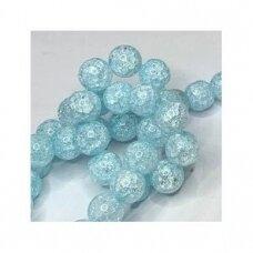 jssin03kakk-apv-10 apie 10 mm, apvali forma, skaidrus, daužtas, melsva spalva, sintetinis, kalnų krištolas, apie 38 vnt.