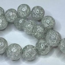 jssin08kakk-apv-10 apie 10 mm, apvali forma, skaidrus, daužtas, pilka spalva, sintetinis, kalnų krištolas, apie 38 vnt.