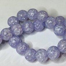 jssin10kakk-apv-06 apie 6 mm, apvali forma, skaidrus, daužtas, violetinė spalva, sintetinis, kalnų krištolas, apie 62 vnt.