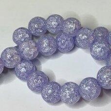 jssin10kakk-apv-10 apie 10 mm, apvali forma, skaidrus, daužtas, violetinė spalva, sintetinis, kalnų krištolas, apie 38 vnt.