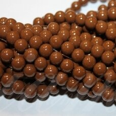jsstik0103-apv-08 about 8 mm, round shape, brown color, about 100 pcs.