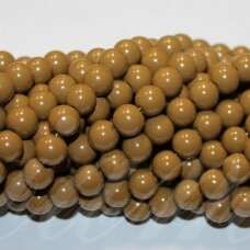 jsstik0110-apv-08 about 8 mm, round shape, brown color, about 100 pcs.