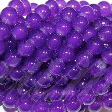 jsstik0122-apv-08 stikliniai karoliukai, apie 8 mm, apvali forma, violetinė spalva, stikliniai karoliukai, apie 100 vnt.