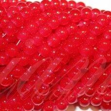 jsstik0130-apv-08 apie 8 mm, apvali forma, raudona spalva, apie 100 vnt.