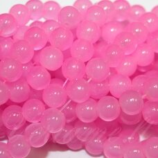 jsstik0133-apv-10 about 10 mm, round shape, light, pink color, about 80 pcs.