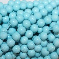 jsstik0143-apv-08 apie 8 mm, apvali forma, šviesi, mėlyna spalva, apie 100 vnt.