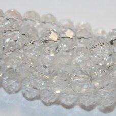 jssw0001gel-ron-03x4 apie 3 x 4 mm, rondelės forma, skaidrus, apie 150 vnt.