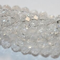 jssw0001gel-ron-06x8 about 6 x 8 mm, rondelle shape, transparent, about 72 pcs.