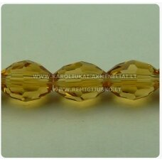 jssw0003gel-pai-08x6 about 8 x 6 mm, amber tint, transparent, oblong shape, faceted, about 72 pcs.