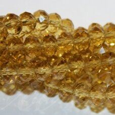 jssw0004gel-ron-03x4 about 3 x 4 mm, rondelle shape, yellow tint, transparent, about 150 pcs.