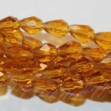 JSSW0006GEL-LAS-04.5x3.5 apie 4.5 x 3.5 mm, lašo forma, briaunuotas, skaidrus, šviesi, ruda spalva, apie 100 vnt.