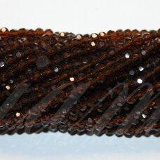 JSSW0007GEL-APV-04 apie 4 mm, apvali forma, briaunuotas, tamsi, ruda spalva, apie 100 vnt.