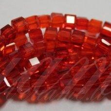jssw0011gel-kub1-04x4 apie 4 x 4 mm, kubo forma, skaidrus, raudona spalva, apie 100 vnt.
