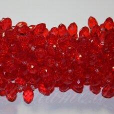 jssw0011gel-las-14x8 apie 14 x 8 mm, lašo forma, skaidrus, raudona spalva, apie 100 vnt.