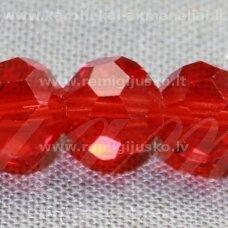 jssw0012gel-apv-04 apie 4 mm, apvali forma, briaunuotas, raudona spalva, stikliniai / kristalo karoliukai, apie 100 vnt.