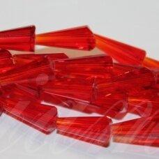 jssw0012gel-kug-12x6 apie 12 x 6 mm, kūgio forma, briaunuotas, skaidrus, raudona spalva, apie 50 vnt.