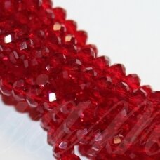 jssw0013gel-ron-03x4 apie 3 x 4 mm, rondelės forma, skaidrus, raudona spalva, apie 150 vnt.