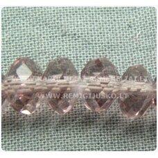 jssw0013k-ron-02x3 apie 2 x 3 mm, rondelės forma, skaidrus, alyvinė spalva, apie 150 vnt.