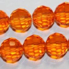 JSSW0015GEL-APV2-06 apie 6 mm, apvali forma, briaunuotas, skaidrus, oranžinė spalva, apie 100 vnt.