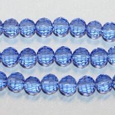 jssw0016gel-apv2-08 apie 8 mm, apvali forma, briaunuotas, skaidrus, mėlyna spalva, apie 72 vnt.