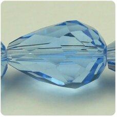 jssw0016gel-las-06x4 apie 06 x 4 mm, lašo forma, briaunuotas, skaidrus, mėlyna spalva, apie 70 vnt. / x 5 juostos