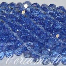 jssw0016gel-ron-06x8 apie 6 x 8 mm, rondelės forma, skaidrus, mėlyna spalva, apie 72 vnt.