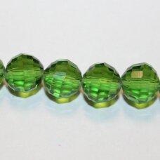 jssw0017-apv2-08 apie 8 mm, apvali forma, briaunuotas, žalia spalva, apie 72 vnt.