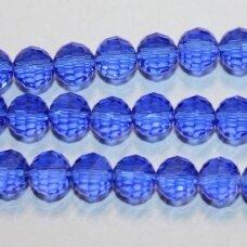 JSSW0017GEL-APV2-06 apie 6 mm, apvali forma, briaunuotas, karališko mėlynumo spalva , apie 100 vnt.