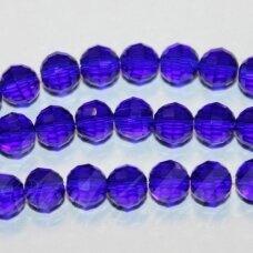 JSSW0018GEL-APV2-06 apie 6 mm, apvali forma, briaunuotas, karališko mėlynumo spalva , apie 100 vnt.