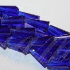jssw0018gel-kug-08x4 apie 8 x 4 mm, kūgio forma, briaunuotas, skaidrus, karališko mėlynumo spalva, stikliniai / kristalo karoliukai, apie 72 vnt.