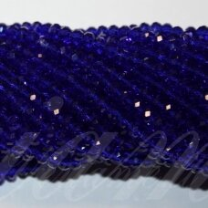 jssw0018gel-ron-03x4 apie 3 x 4 mm, rondelės forma, skaidrus, karališko mėlynumo spalva, apie 150 vnt.