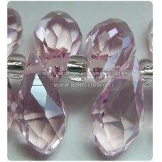 JSSW0021GEL-LAS-12x6 apie 12 x 6 mm, rožinė spalva, skaidrus, lašo forma, briaunuotas, apie 100 vnt.