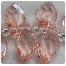 JSSW0022GEL-LAS-12x6 apie 12 x 6 mm, lašo forma, briaunuotas, rožinė spalva, apie 100 vnt.