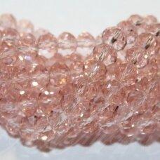 jssw0022gel-ron-08x10 apie 8 x 10 mm, rondelės forma, briaunuotas, skaidrus, persikinė spalva, apie 72 vnt.