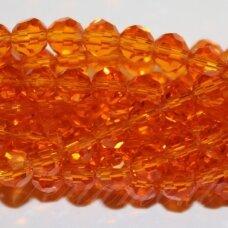 jssw0022k-apv-04 apie 4 mm, apvali forma, briaunuotas, skaidrus, oranžinė spalva, apie 100 vnt.