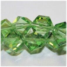 jssw0023gel-kub-08 apie 8 mm, kubo forma, skaidrus, šviesi, žalia spalva, apie 72 vnt.