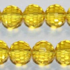 jssw0023k-apv2-08 apie 8 mm, apvali forma, briaunuotas, skaidrus, geltona spalva, apie 72 vnt.