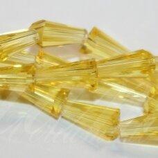 jssw0023k-kug-08x4 apie 8 x 4 mm, kūgio forma, briaunuotas, skaidrus, geltona spalva, 72 vnt.