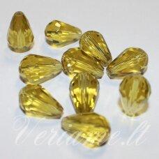 JSSW0023K-LAS-04.5x3.5 apie 4.5 x 3.5 mm, lašo forma, geltona spalva, apie 100 vnt.