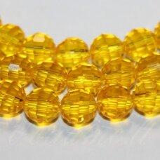 JSSW0024N-APV2-06 apie 6 mm, apvali forma, briaunuotas, skaidrus, geltona spalva, apie 100 vnt.