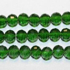 jssw0025gel-apv2-06 apie 6 mm, apvali forma, briaunuotas, skaidrus, žalia spalva, apie 100 vnt.
