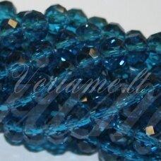 jssw0026k-ron-09x12 apie 9 x 12 mm, rondelės forma, skaidrus, mėlyna spalva, apie 72 vnt.