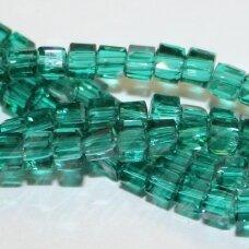 jssw0027gel-kub1-03x3 apie 3 x 3 mm, kubo forma, skaidrus, žalia spalva, apie 100 vnt.