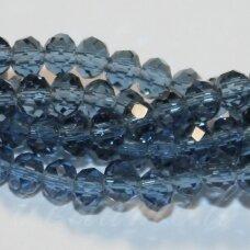 jssw0029gel-ron-02x3 apie 2 x 3 mm, rondelės forma, skaidrus, melsvo dūmo spalva, apie 200 vnt.