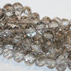 jssw0030gel-ron-08x10 apie 8 x 10 mm, rondelės forma, skaidrus, šviesi, dūmo spalva, apie 72 vnt.