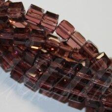 jssw0031gel-kub1-04x4 apie 4 x 4 mm, kubo forma, skaidrus, alyvinė spalva, apie 100 vnt.