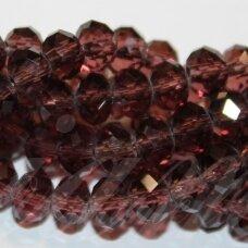 jssw0031gel-ron-06x8 apie 6 x 8 mm, rondelės forma, skaidrus, alyvinė spalva, apie 72 vnt.