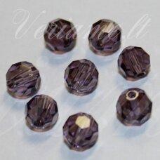jssw0032gel-apv-04 apie 4 mm, apvali forma, briaunuotas, skaidrus, violetinė spalva, apie 100 vnt.