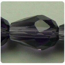 JSSW0032GEL-LAS-06x4 apie 6 x 4 mm, lašo forma, briaunuotas, violetinė spalva, apie 100 vnt.