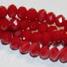 jssw0033gel-ron-08x10 apie 8 x 10 mm, rondelės forma, briaunuotas, raudona spalva, apie 72 vnt.